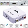 Převodník CINCH na HDMI-analogové kompozitní video+audio / HDMI