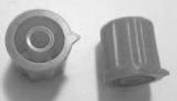 Knoflík K1404 pro hřídel @4mm šedý