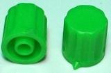 Knoflík K1404 pro hřídel @4mm zelený