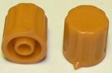 Knoflík K1404 pro hřídel @4mm okrový