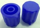 Knoflík K1404 pro hřídel @4mm modrý