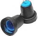 Knoflík přístrojový na osku @6mm černo-modrý