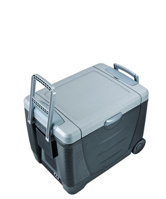 Autochladnička 45L G21 C&W 45L 230V/24V/12V lednice, box, napájení i 230V, do auta, kamionu, náklaďáku, na chatu, chlazení / ohřívání 65W příkon, kolečka, madlo
