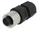 Konektor M12 3piny 12-03BFFA-SL8001 zásuvka