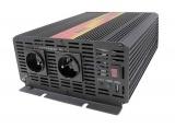Měnič napětí DC/AC 12V/230V stř.2000W, 4000W špička, CARSPA  modifikovaná sinusovka, JYINS, Mobilní síťový zdroj na cesty, vstup 10-15 V DC