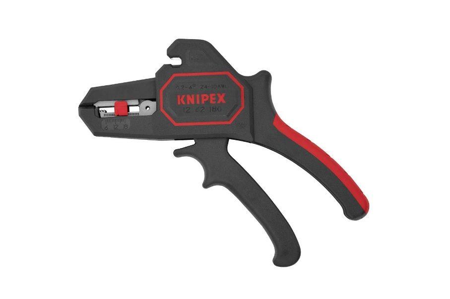 Odizolovávací kleště KNIPEX 1262180 automatické, nastavitelné délka od 6,0 do 18,0 mm