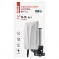 Televizní venkovní anténa UHF pro DBV-T2 příjem TV EMOS EM-711, 0–80 km, zisk 25dB, malá, kompaktní