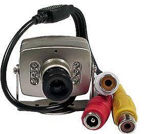 Barevná kamera se zvukem a infra nočním viděním, 1/3'' color CMOS, napájení 9VDC/120mW, výstup CINCH 1,0Vpp 75Ω