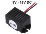 Bzučák piezo elektromagnetický HF12 8 - 16V, tón 400Hz