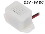 Bzučák piezo elektromagnetický HF30 2,3V - 9V DC, tón bzučivý