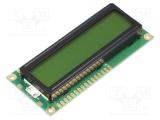 NPC1602LRU-GWB-H LCD alfanumerický displej 16x2