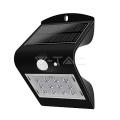 Osvětlení LED VT-767-2 solární svítidlo s čidlem, 1,5W, IP65, černá
