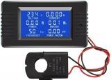 Panelové měřidlo voltmetr a ampérmetr digitální Multitester V-A-P-F-COSfí