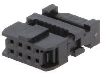 Konektor PFL08 zásuvka crimp. na kabel RM 2,54 mm