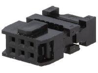 Konektor PFL06 zásuvka crimp. na kabel RM 2,54 mm