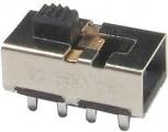 Posuvný přepínač KB45-2P3W 3polohy/8pinů-2 pólový ON-ON-ON, DP3T (2x přepínací kontakt 3 polohy) 250V/0,5A