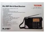 Radiopřijímač-Tecsun PL-310ET SVĚTOVÝ přehledový přijímač FM, MW, SW, LW Tescun
