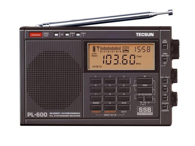 Radiopřijímač-Tecsun PL-600 SVĚTOVÝ přehledový přijímač FM, MW, SW, LW Tescun