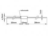 Tepelná pojistka 99°C, max. proud 15A, rozměr 4,2 mm x 11mm