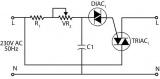 Triakový regulátor-stmívač 230V/100W/0,43A stavebnice