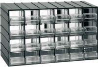 Závěsná skříňka stohovací 382x230x148mm 24 krabiček