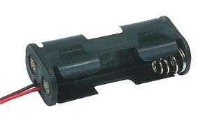 Držák baterií 2xAA,R6 s vývody