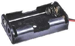 Držák baterií 2xAAA, LR03 s vývody