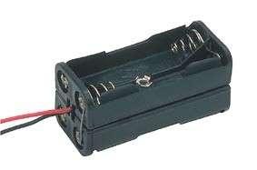Držák baterií 4xAA, R6 kostka, drátové vývody