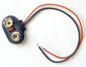 """Klips, patentka na 9V baterii a držáky baterií, ve tvaru """"T"""""""