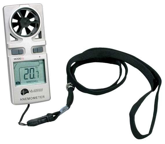 Měřič rychlosti větru Anemometr WS9500 stříbrný