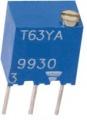 T63YA 10K Trimr víceotáčkový 0,25W 6.8x6.8x4.6mm