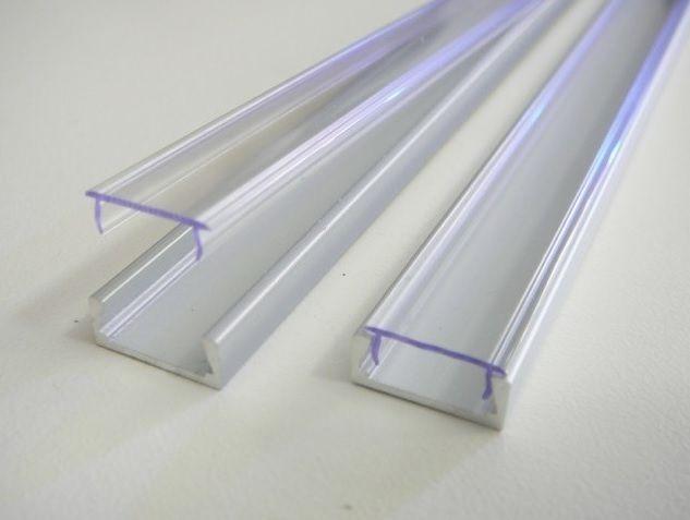 AL lišta profil Mikro 2 stříbrný pro LED pásky k přisazení (varianta krytu-čirá/matná/bez krytu) 15,2x6mm délka 2m