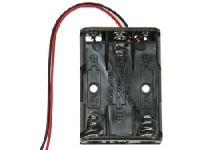 Držák baterií-PLOCHÝ pouzdro baterie 3xUM4FD mikrotužkový článek LR03 (AAA) Vývody: drátové 150mm.