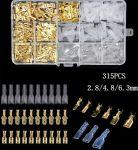Fastony, kolíky, zdířky a krytky 2.8-4.8-6.3mm - sada 315ks