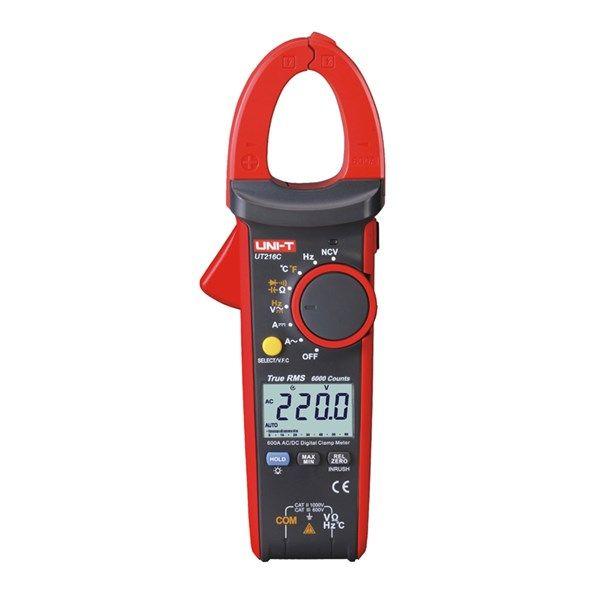 Klešťový multimetr UNI-T UT216C AC i DC proud, napětí, kapacita, kmitočet, odpor, teplotu