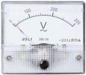 Panelové měřidlo 300Vstř., 80x65mm