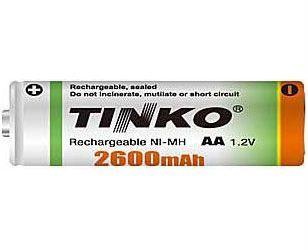 Baterie nabíjecí TINKO AA (R06) 2600mAh tužková