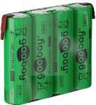 Baterie nabíjecí pack 4xAA(R6) NiMH 2100mAh 4,8V s vývody, tužkový článek, pro bezdrátové telefony