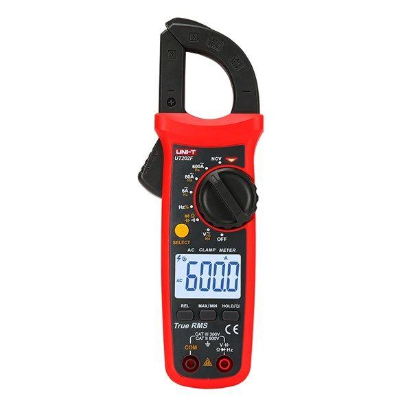 Klešťový multimetr UNI-T UT202F, měří AC i DC napětí, AC proud, kmitočet