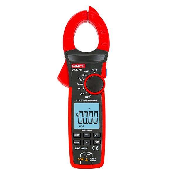 Klešťový multimetr UNI-T UT205E AC i DC proud, napětí, kmitočet, odpor, teplotu
