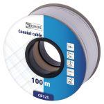 Koaxiální kabel CB125 75 Ohm, vnitřní vodič měď (Cu), průměr 6,8mm, materiál stínění mědí plátovaný hliník (CCA)