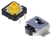 Mikrospínače,  montáž do plošného spoje