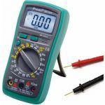 Digitální multimetr MT-1210, napětí, proud, odpor, 500V, 10A, odpor 2MOhm. tester tranzistorů, tlačítko HOLD přidržení naměřené hodnoty, akustická signalizace zkratu