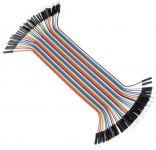 Kabel-plochý 40pin propojky 20cm samec-samec