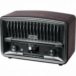 Retro rádio MUSE M-135DBT hnědý-stolní, USB, FM, DAB+  stereo