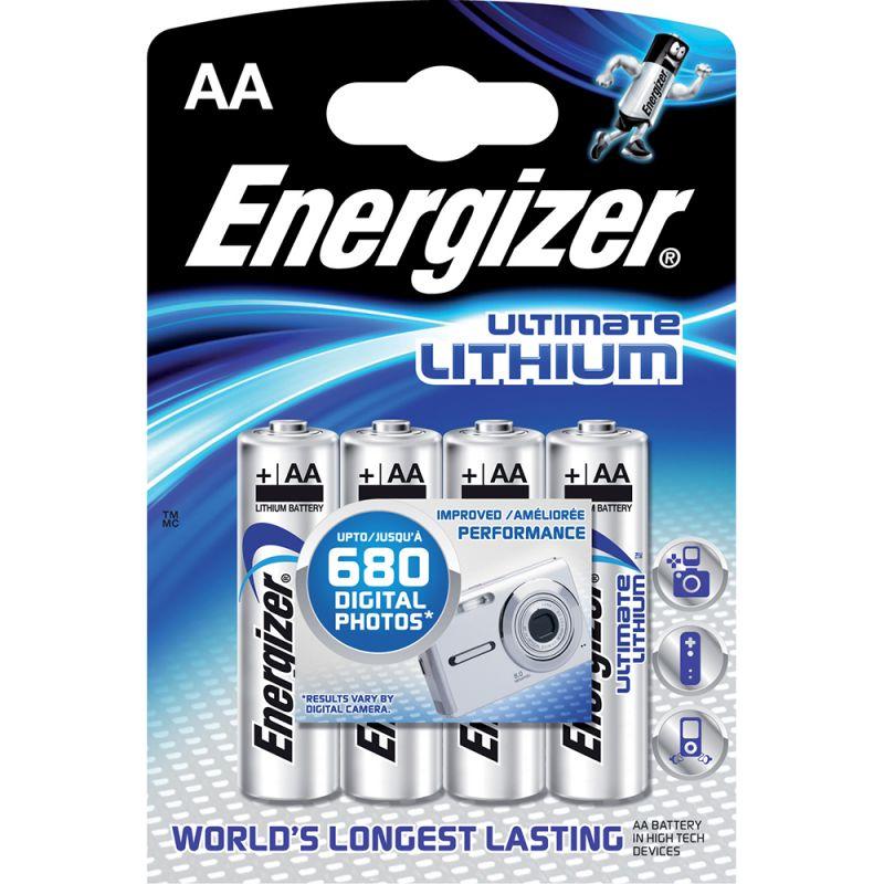 Baterie AA (R6) tužková lithium Ultimate ENERGIZER balení 4BP (4ks)