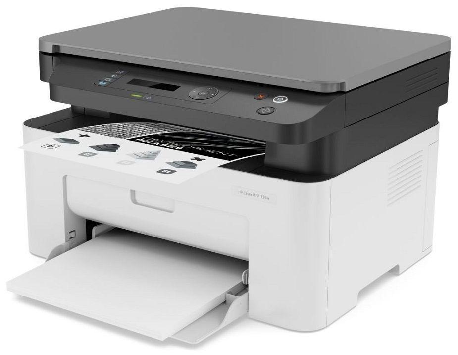 HP Laser 135w laserová multifunkční černobílá tiskárna, A4 20ppm, USB2.0,WiFi, tisk/scan/copy