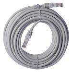 Kabel UTP Patch RJ45-V/RJ45-V 10m síťový nekřížený, barva šedá