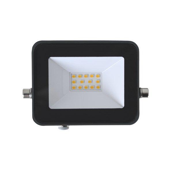 LED venkovní reflektor GLF10 SLIM, 10W černá, 4000K - bílá přírodní neutrální denní, napájení kabel 230V