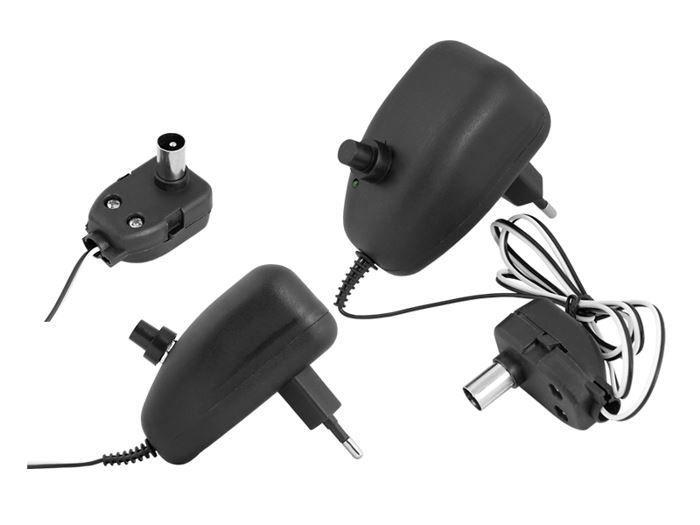 Napájecí zdroj do zásuvky regulace 5-14V/100mA s výhybkou pro napájení anténního zesilovače.